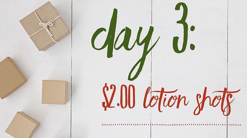 Day 3: $2.00 lotion shots! pic.twitter.com/IdqfPjKbUO