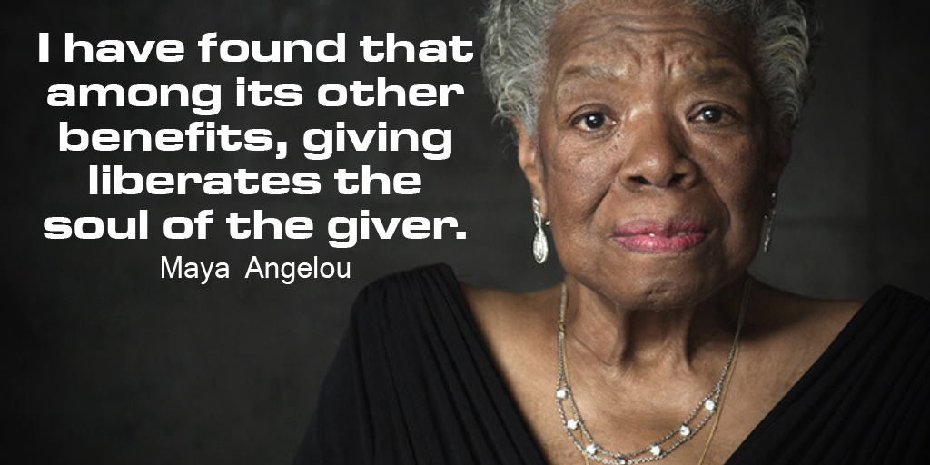 I have found that among its other benefits, giving liberates the soul of the giver. #SuperSoulSunday