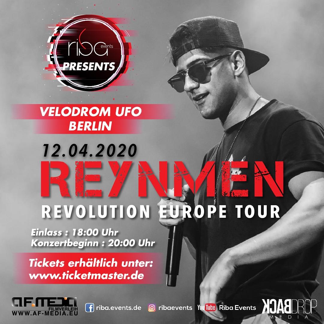 Berlinliler!!! Reynmen hayranları!!! Sözümüz size!!! 12 Nisan'da Velodrom Ufa Berlin'de son günlerin en popüler ismi Reynmen konserinde buluşuyoruz! @riba_events @reynmen  #BERLİN #berlin #konser #liveperformance #live #konsert #ela #reynmen #afmediapic.twitter.com/Sl9p6SZ3mG