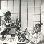 Image for the Tweet beginning: Lucille & Louis Armstrong creating