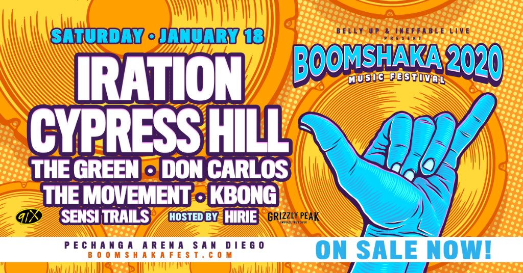 Day  of our 12 Days of Giving brings the best of reggae!  Enter now on our Facebook page for your chance to win four tickets to Boomshaka 2020 at Pechanga Arena San Diego on Saturday, January 18! pic.twitter.com/7Fyg6b0W30