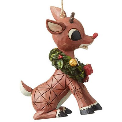 Just in!  Rudolph with Wreath Christmas Tree ornament.   Shop now and save 10% off your entire order with #couponcode CH10.      #rudolphtherednosedreindeer #ChristmasTree #ChristmasOrnament #Jimshore