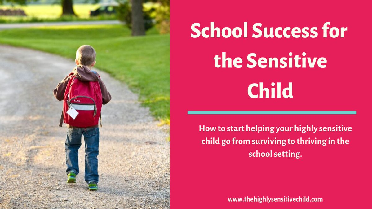 FREE WORKSHOP!  School and the Highly Sensitive ChildHow to start helping your highly sensitive child go from surviving to thriving in the school setting. https://thehighlysensitivechild.lpages.co/school-workshop/…#highlysensitivechild #hsp #sensory #anxiety #school