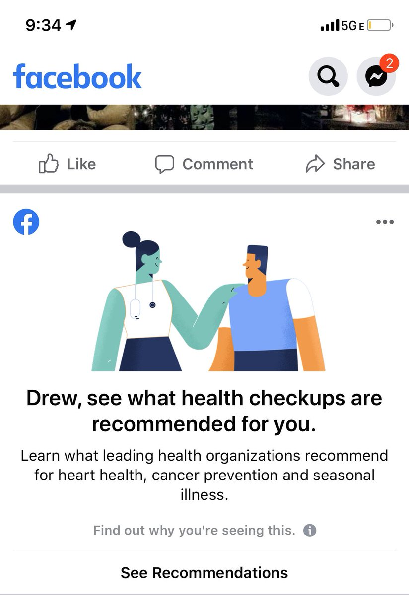 This is pretty much gonna be it for me on @facebook. As if your service isn't one landmine after another with personal triggers in memories, you want to scare me into good health. This company and the data they're collecting is dangerous.
