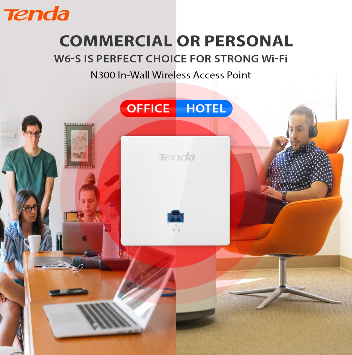 Wi-Fi helps your employees strengthen your Business, Wi-Fi helps your customers stay loyal long term.Know more: http://www.tendacn.com/us/product/w6-s.html…#Tenda #WiFi #AccessPoint #WallMount #Hotel #School #Office #Home #StableWiFi