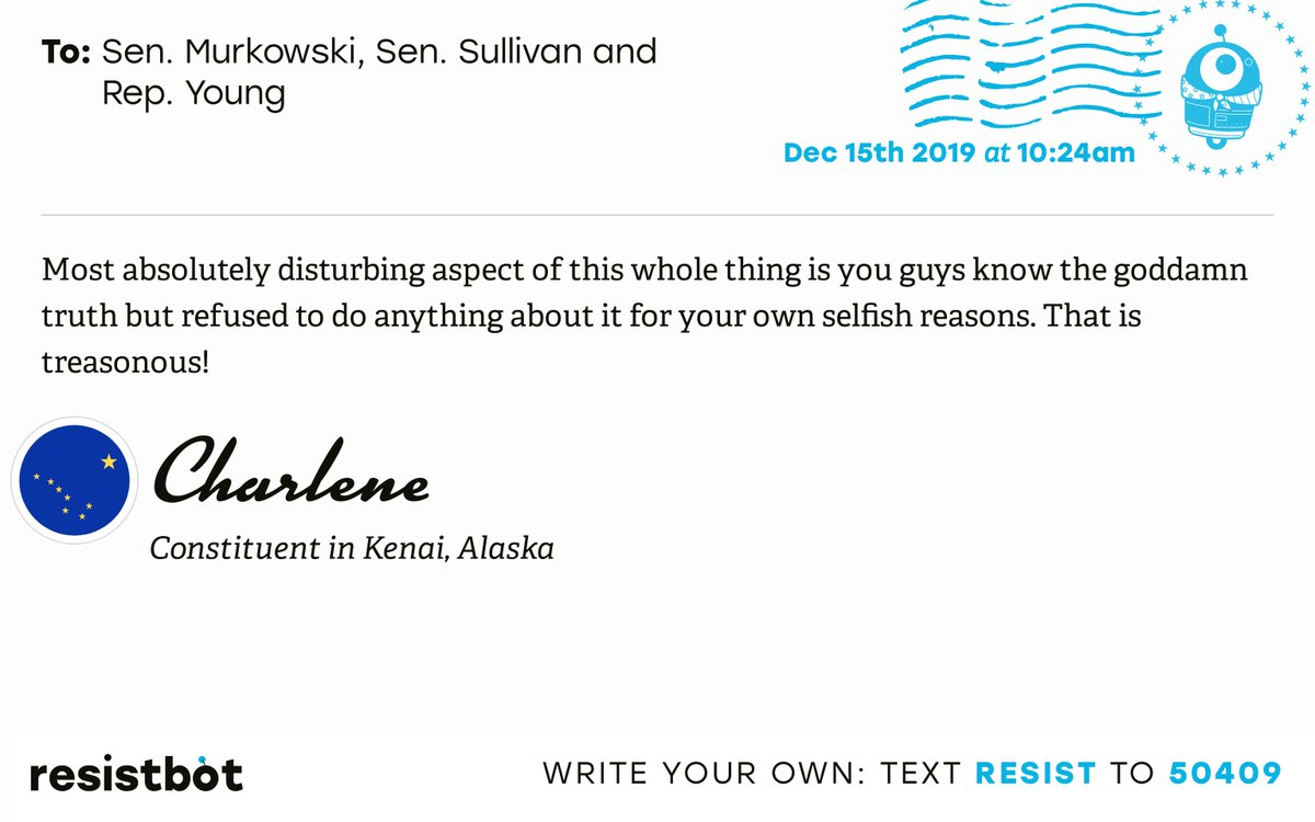I just delivered this letter from @arctic__char to @LisaMurkowski, @SenDanSullivan and @RepDonYoung #AKAL #AKpol pic.twitter.com/OFahR39d7T