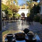 Image for the Tweet beginning: Having tea in Marrakesh, Morocco.