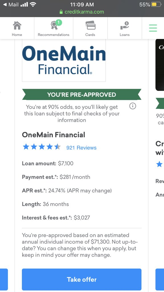 @creditkarma who knew you encouraged such predatory lending. What is your percentage for sponsoring such an atrocity? pic.twitter.com/01DtL2HecT