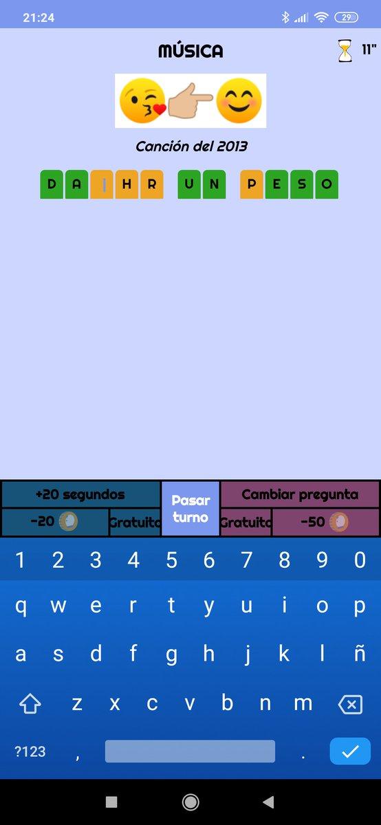 ¿Alguien me ayuda ¡Corre que queda poco tiempo! Recuerda que puedes añadir 20 segundos  adicionales siempre que tengas monedas #Apps #developers #development #N2dev #iOS #Android #AdivinaConEmoticonos #GuessWithEmoticons #emoji #boardgame #boardgames #juegosdemesapic.twitter.com/cy28QEkarE