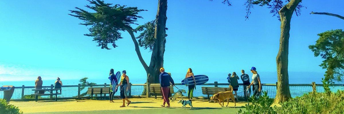 Perfect Day - panorama at #PleasurePoint overlooking the #Monterey Bay bit.ly/2swfa80 @ChillWorldArt1 #panorama #digitalart #giftideas #interiordesign #SantaCruz #HomeDecor #popart #abstractart #pano #surfing #wallart #monterey #surfcity #surfinglife #interiordecor