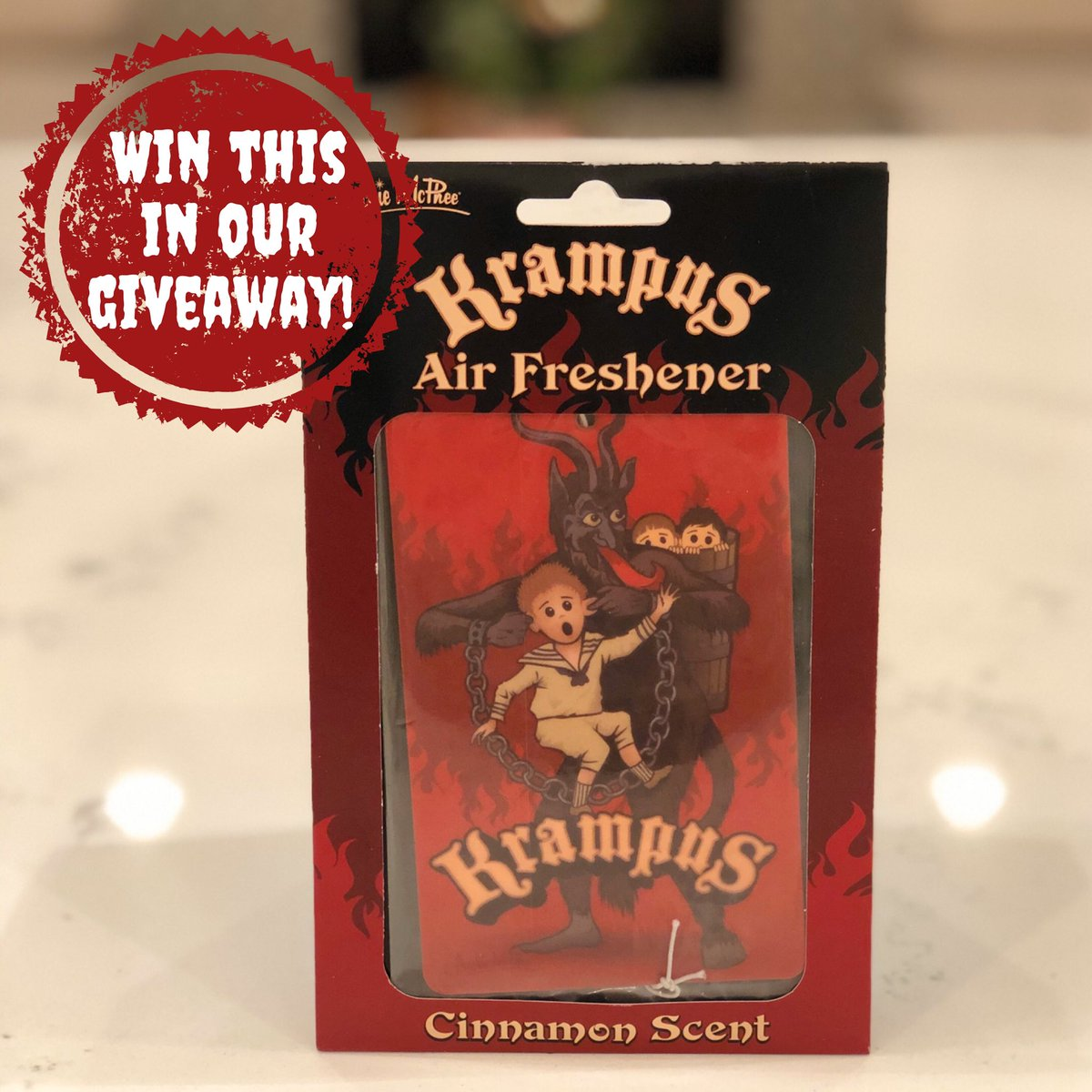 Our #giveaway  contest ends TOMORROW!! Enter on Instagram for a chance to #WIN #prizes like this cinnamon-scented #Krampus air freshener: https://bit.ly/2YUjLNI . #podcast #winit #ladypodsquadpic.twitter.com/COIiR8S4TP