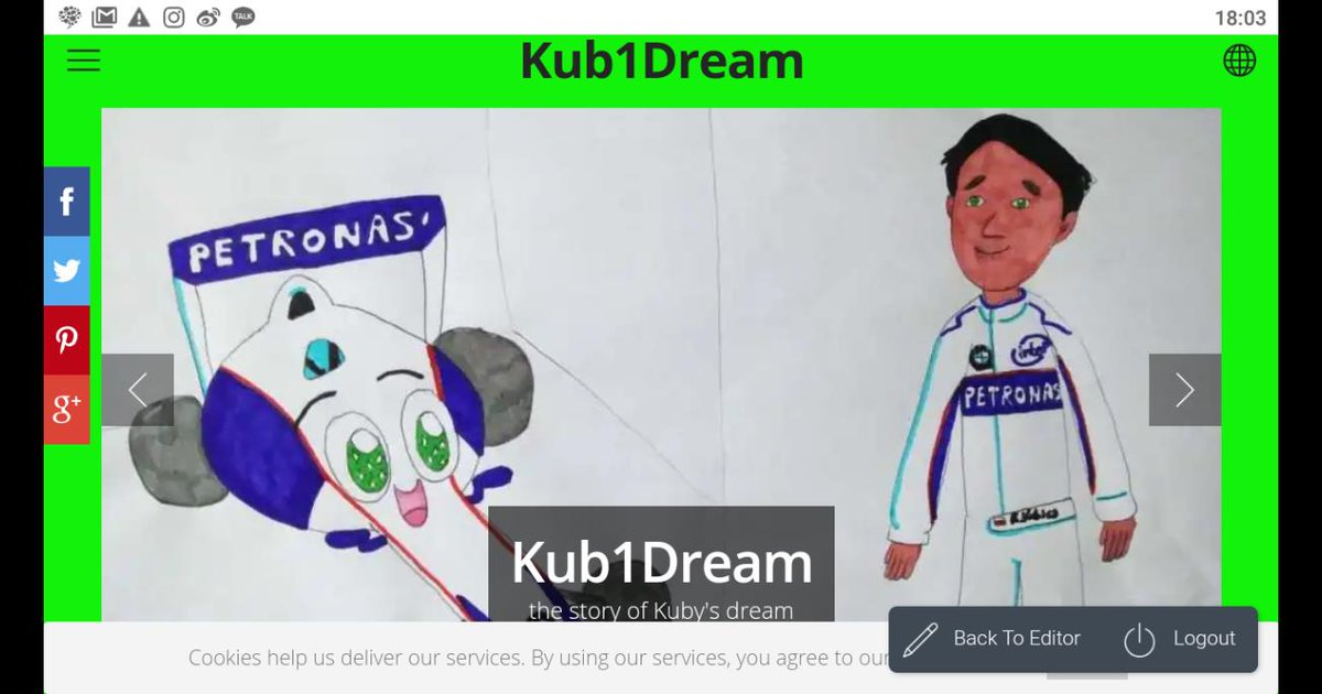 little preview of my website #Kub1Dream (soon online)  what do you think? I hope it will be a good start for a great race! 💪😊 The race for my dream to share with U the story of #RK88's car and her friends. 😍 I hope you like it! #ForzaKubica #SupportKubica