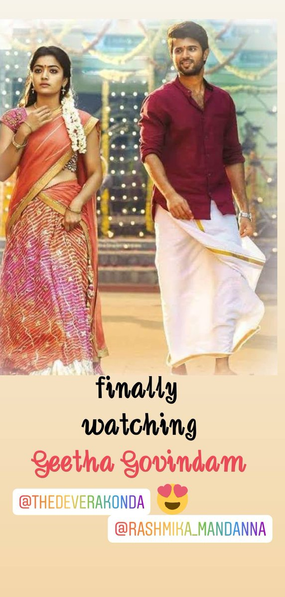 @iamRashmika  your fabulous acting made #GeethaGovindam a blockbuster, and I finally watched in Hindi .....I luv ur acting mam pic.twitter.com/7dbRhP8lP4