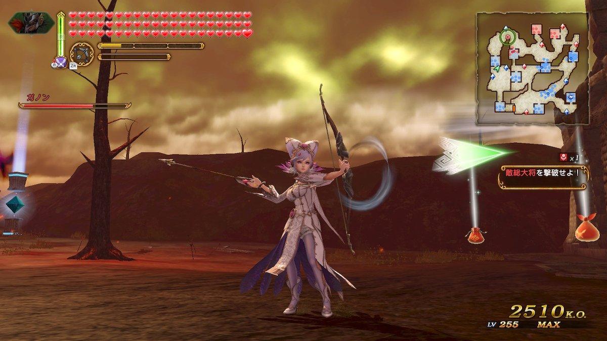 弓矢モーションの見たらあかんところ...  #黒の魔女シア #ZELDA無双HADX #NintendoSwitch pic.twitter.com/f9w05D2Ase