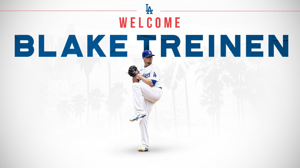 Welcome, Blake!  The Los Angeles Dodgers today signed right-handed pitcher Blake Treinen to a one-year contract. <br>http://pic.twitter.com/6chFFO6dHY