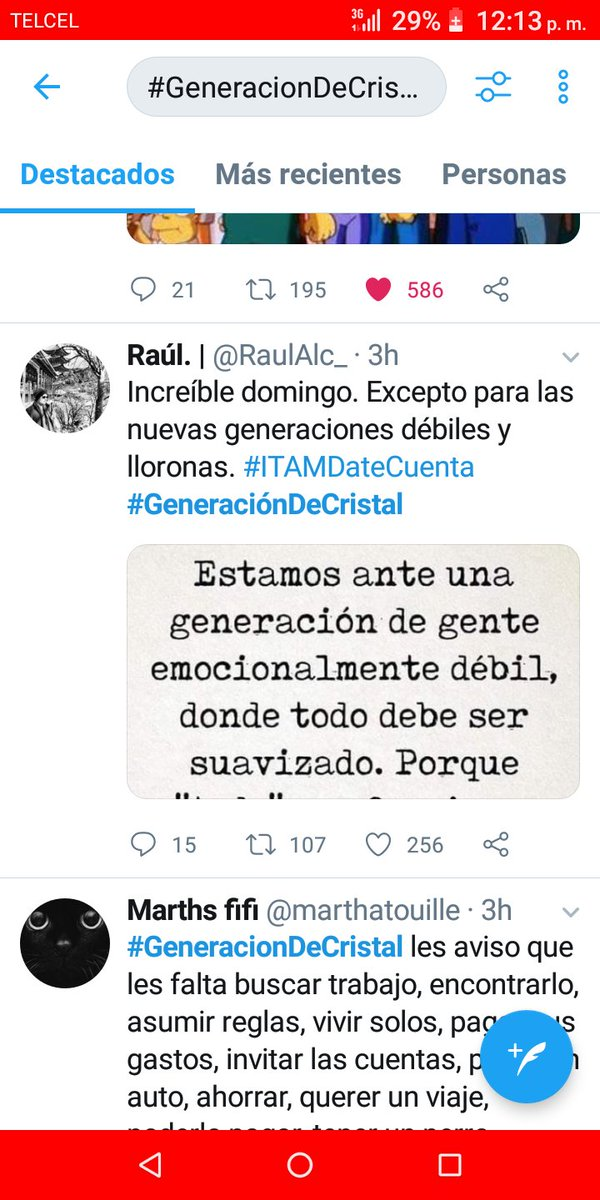 Here on México the hashtag #GeneracionDeCristal  got trending , and it's boomer hell almost every tweet is just saying that younger generations are too softpic.twitter.com/POTr8IJqPJ