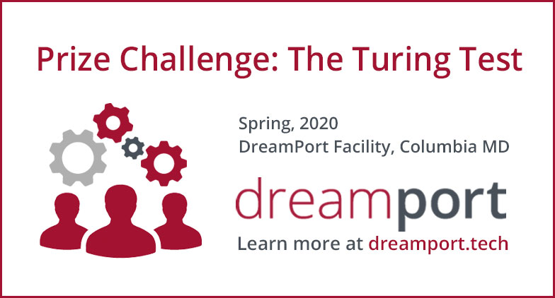 #DreamPort #Prize #Challenge Fool a #human judge who is #monitoring #target #computers into thinking a normal user is interacting with that #machine & not an #automated program or process. #cash #award #RDP #VNC #AI  #cyber #STEM #Event #edtech #innovative http://ed.gr/bxh0w