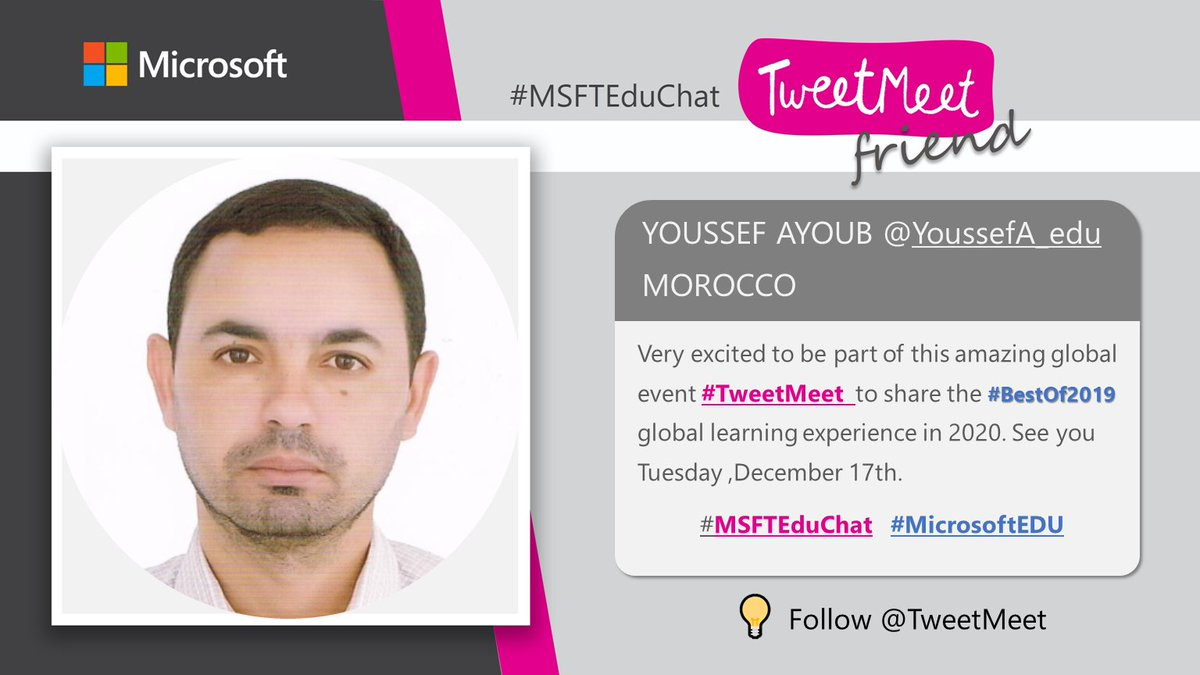 Join the #bestof2019 tweetmeet on Tuesday 17th December ?  Learn something new for 2020 #MSFTEduChat#MicrosoftEDU    #TweetMeetFR  #STEM #MIEExpert