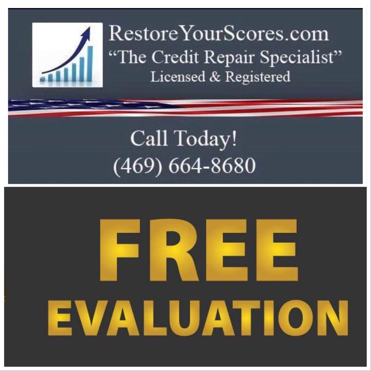 Call today for your free credit evaluation.  #creditrepair #credit #creditrestoration #creditscore #creditrepairservices #tradelines #goodcredit #financialfreedom #money #badcreditpic.twitter.com/0fgiCKTnBj