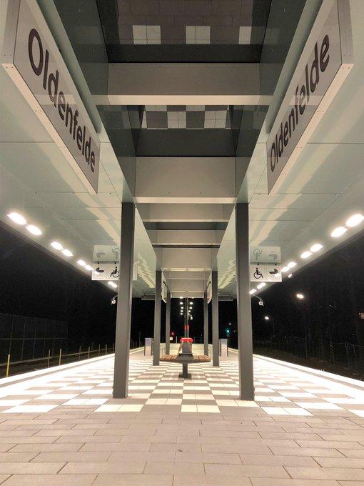 Neuer Bahnhof Oldenfelde auf der UBahn U1 eröffnet.   Zu