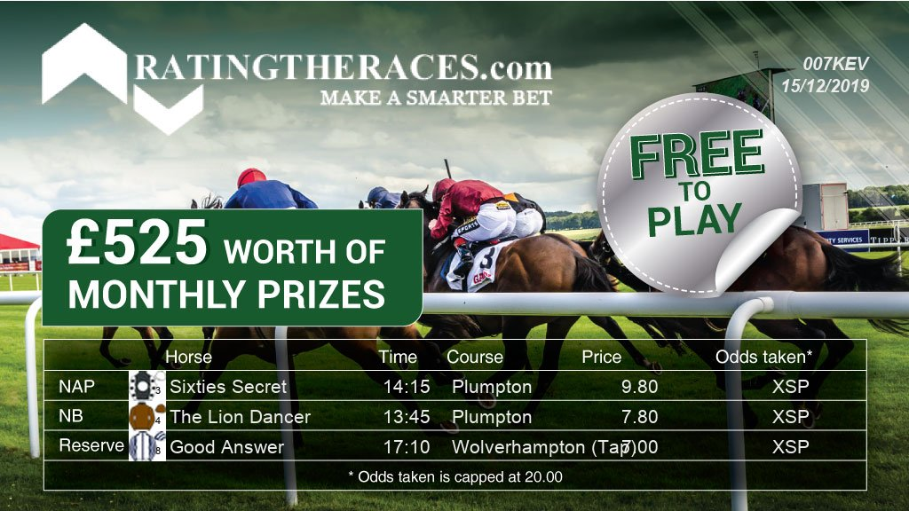 My #RTRNaps are:  Sixties Secret @ 14:15 The Lion Dancer @ 13:45  Sponsored by @RatingTheRaces - Enter for FREE here: http://bit.ly/RTRNapCompEntrypic.twitter.com/AQBQHsCYzr