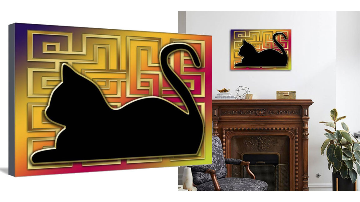 "Brand new ""Black Cat And Gold Screen"" 30x20 inch Canvas Gallery Wrap.  Regular Price: $196.00 + shipping.  Sale Price: $99.00 if you pick up.  http://bit.ly/2Z4McLl    #LA #Hollywood #SantaMonica #CulverCity #WeHo #MarVista #ArtSale #Cats #CatLovers #Cat #Art #Artwork #WallArtpic.twitter.com/6bAoKr0smk"