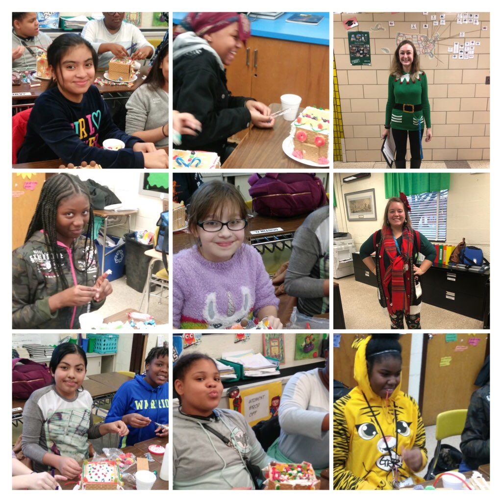 It's beginning to look a lot like.....@DundalkMS as Gems Girls Group makes gingerbread houses and teachers embrace the holiday cheer! @SusanTruesdell @grobertsbcps  #OWLPRIDE #MentoringMatters pic.twitter.com/x3fyKggAUz