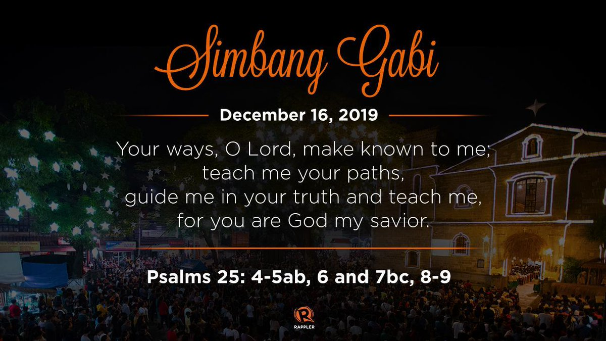 December 16 marks 9 days before Christmas , this means the beginning of Simbang Gabi and Misa de Gallo.    Will you be attending masses this year? Check out the #SimbangGabi schedules across the Philippines: https://www.rappler.com/nation/246857-simbang-gabi-philippines-mass-schedule-2019…pic.twitter.com/C195iTVd11