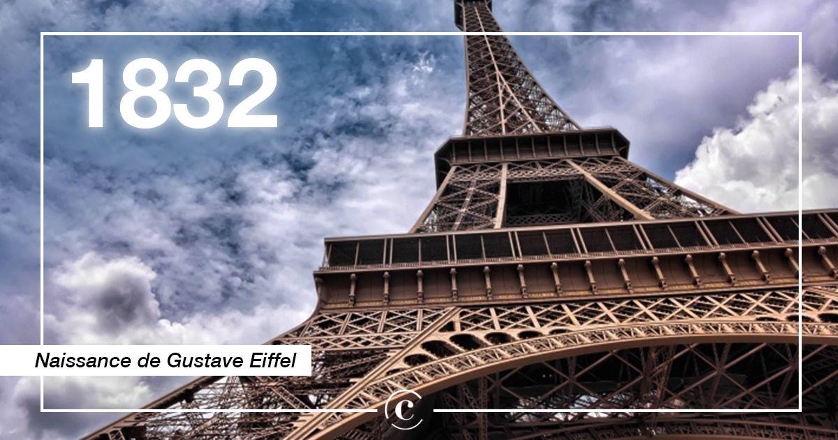 15/12/1832 : Naissance de #GustaveEiffel ! Ingénieur et industriel de génie, il nous a légué un patrimoine d'oeuvres métalliques international.  Il a participé à la construction de @LaTourEiffel et celle de la #StatuedeLaLiberte !   #EiffelTower #cejourla #happybirthday