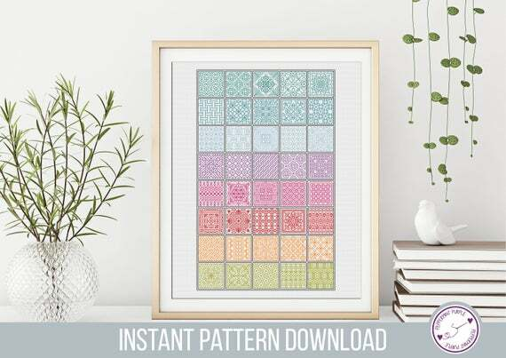 In the minouette shop: Rainbow Blackwork Pattern, BlackWork Rainbow Squares , Coloured Blackwork Chart, Cross Stitch chart  by Peppermint Purple by PeppermintPurple at https://ift.tt/2OB3bgI pic.twitter.com/CN48POzsT8