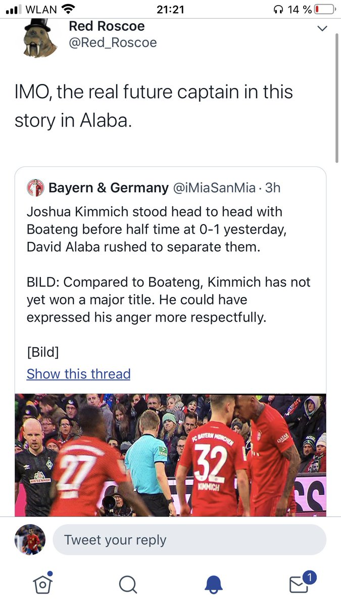 No you weren't lol. He was talking about a scene from the Bremen game. pic.twitter.com/N5T3V53ZLB