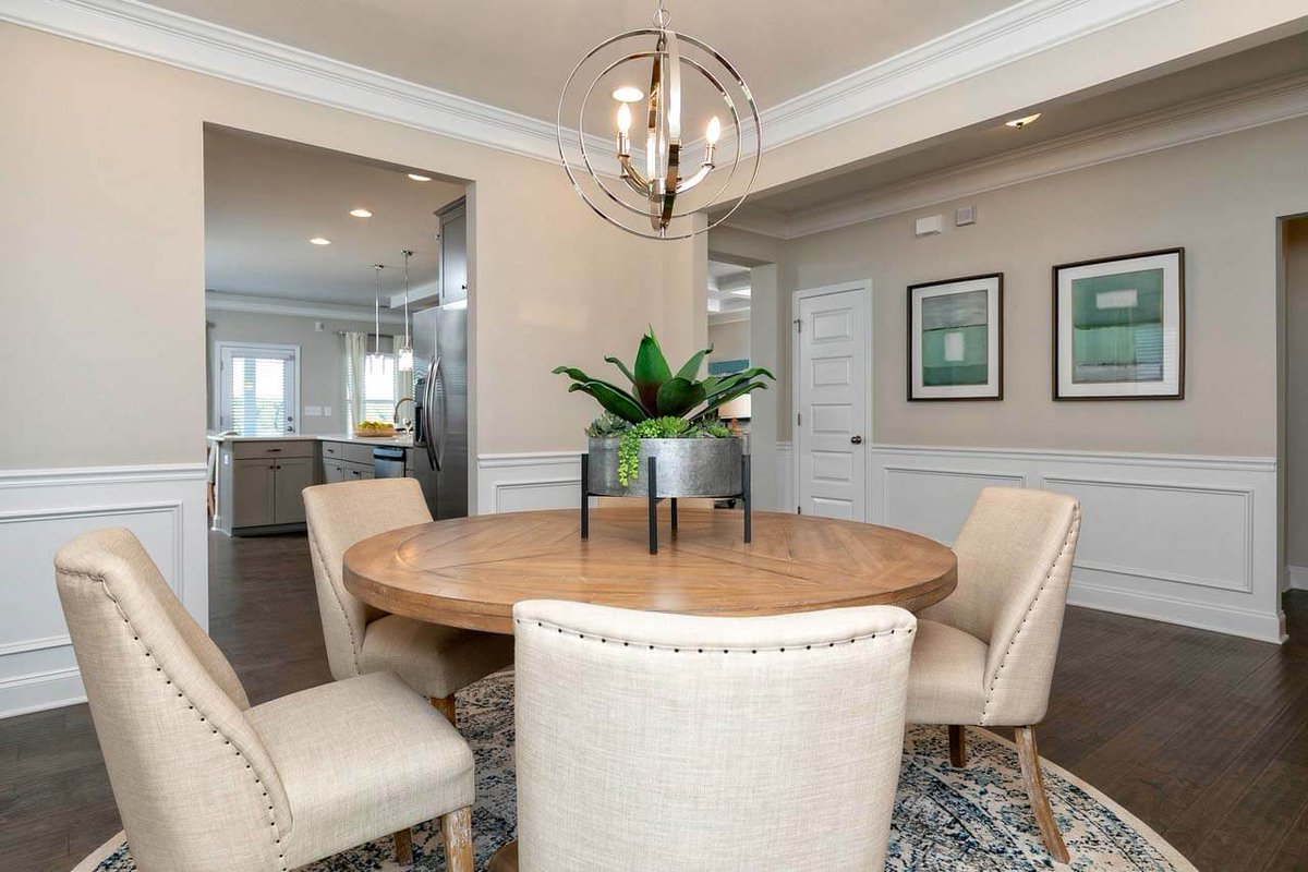 Smith Douglas Homes On Twitter Which Style Best Fits Your Personality A Coffered Ceiling Or Crown Molding Shown Dining Rooms Of Our Avery Floor Plan Dining Design Newhomes Https T Co Xucgwsh6rm