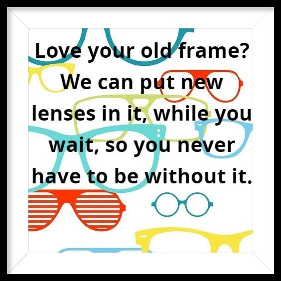 Recycle, Reduce, Reuse :)  #framedatspectacleswest #useyourownframe #shoplocal #weatherfordtxpic.twitter.com/Kc4yiqfWmy