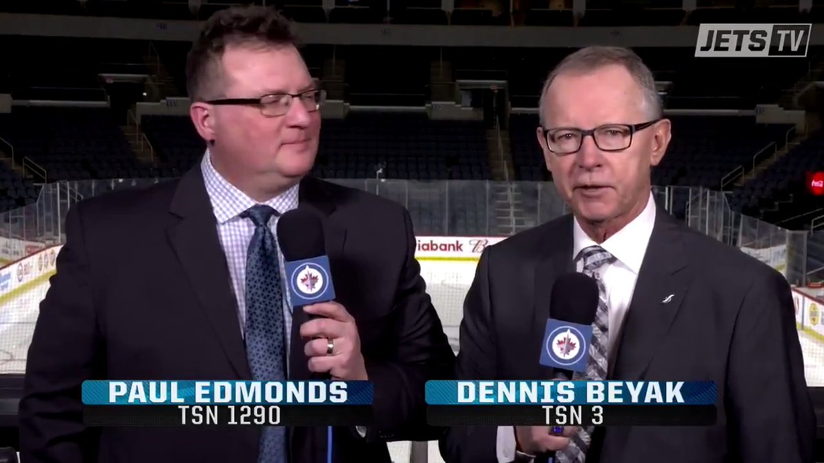TSNs Dennis Beyak and @UtilityVoice set the stage for todays game as the #NHLJets host the Flyers at Bell MTS Place. #PHIvsWPG