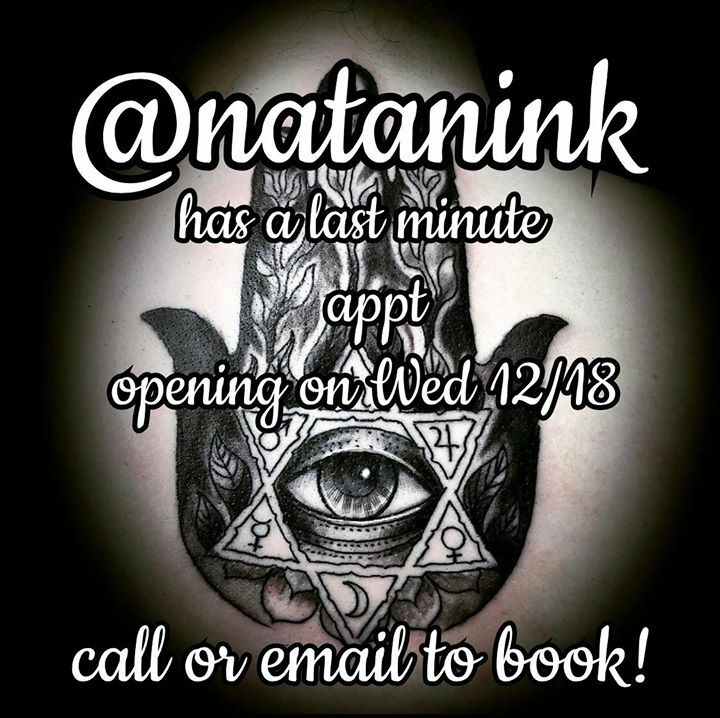 @natanink has a last-minute opening on this Wednesday 12/18 @ 1PM! Call 978-744-9393 or email witchcityink@gmail.com with your inquiry to book!  . . #natanalexander #witchcityink #salemsbesttattoos #salem #salemma #salemmassachusetts #mucha #muchaart #muchatattoo #tattoomag… pic.twitter.com/UGGRIYReTm