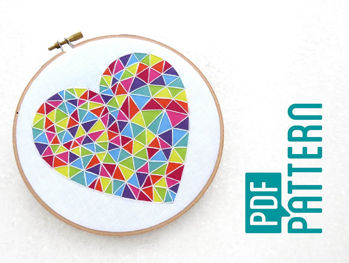 Beginner Embroidery Pattern, Easy Hoop Art Tutorial PDF, Geometric Heart Needlework Pattern, Learn To Hand Embroider, Basic Embroidery Kit https://www.etsy.com/ohsewbootiful/listing/494880780/beginner-embroidery-pattern-easy-hoop?utm_source=around.io&utm_medium=twitter&utm_campaign=around.io … #giftideas #giftforherpic.twitter.com/qQGRGW2bli