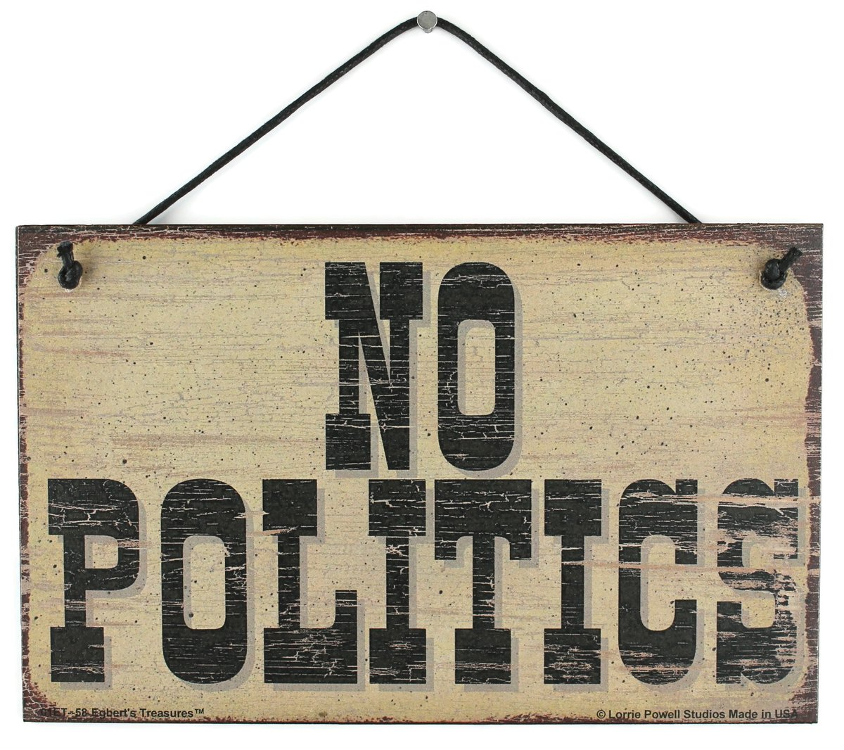 NO POLITICS (at Christmas Time) - Get this sign here:  https://www.amazon.com/gp/product/B07XGDK4B6 …  #NoPolitics #Politics #VOTE  #Signs #Gifts #Republicans #Democrats #Political #MerryChristmas #Christmas #Xmas #FunSigns #EgbertsTreasures #GiftIdeas pic.twitter.com/pAOkvLGoWV