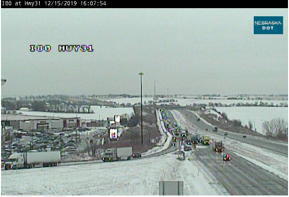 Image posted in Tweet made by Omaha Hwy Conditions on December 15, 2019, 10:14 pm UTC