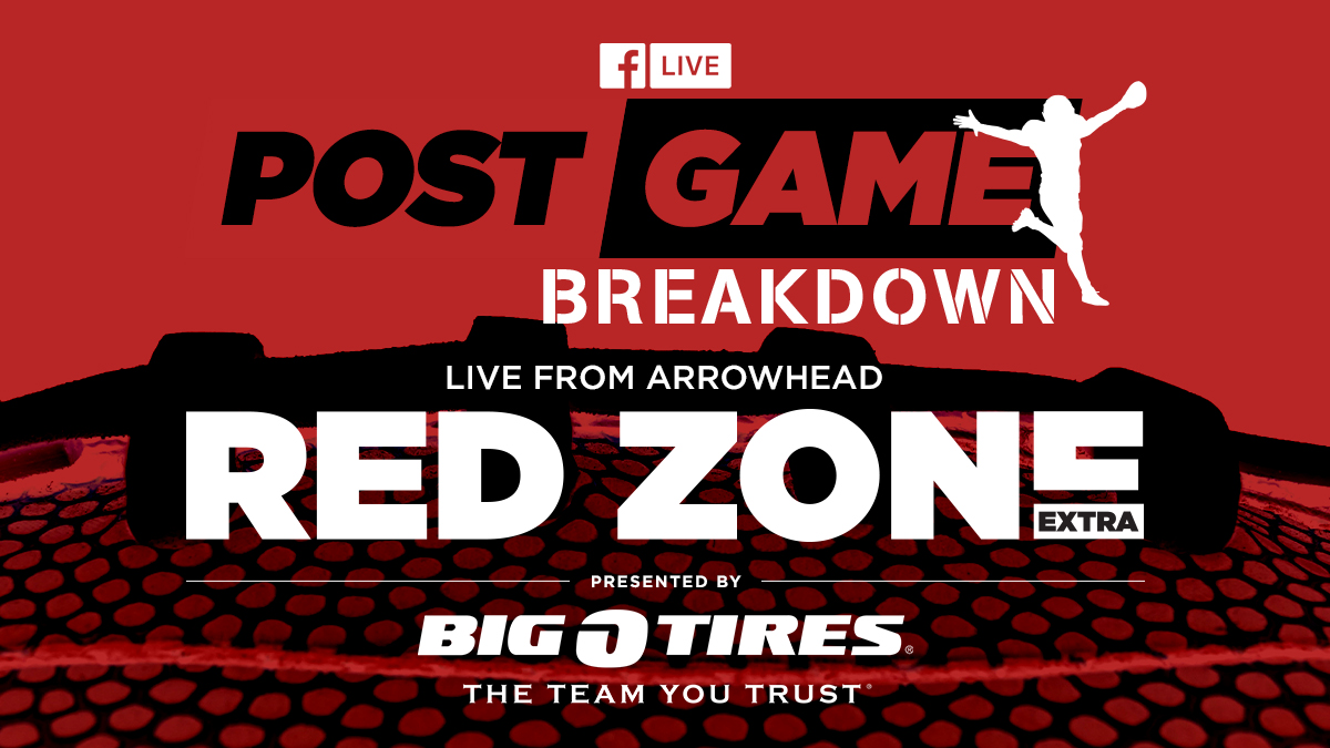 Tune into http://facebook.com/redzoneextra and join the A-Team @BlairKerkhoff, @mellinger, @vgregorian, @HerbieTeope and @SamMcDowell11 live from Arrowhead following the Chiefs' win against the Broncos. Sponsored by @bigotires.pic.twitter.com/mXneR7Rd4Z