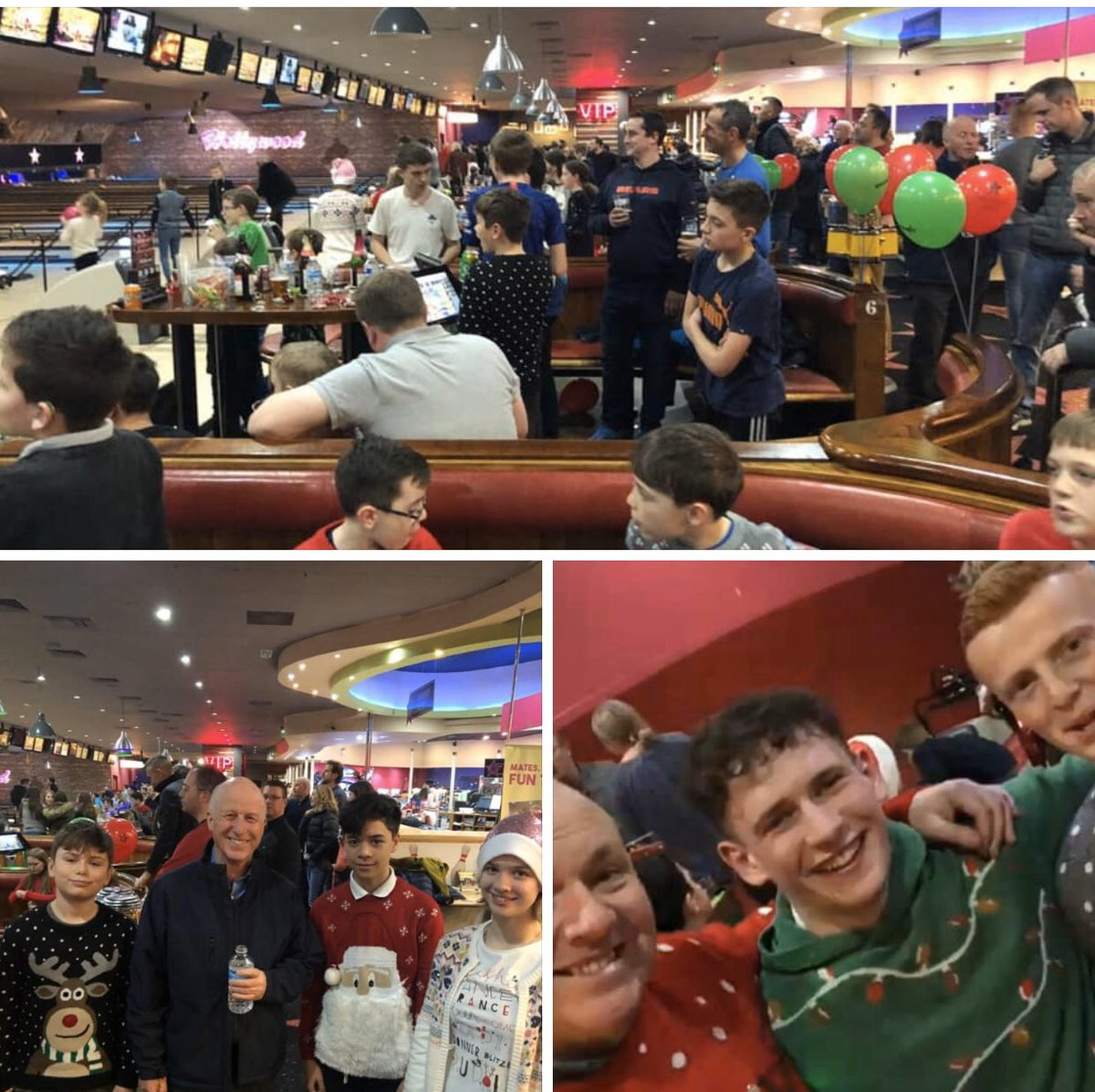 Brilliant atmosphere as 54 Juniors from Knebworth  went bowling sponsored by Jack Mudd Foundation. @muddie95  Left picture is Captain Peter Simmons  with Junior Club Champion  George and Captain Sian and Vice Eddie the Assassin.pic.twitter.com/x1RxSpiig6