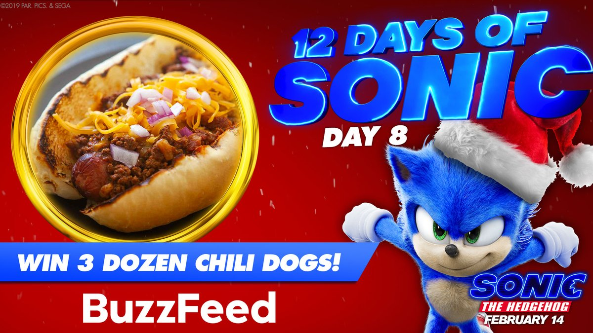 Sonic The Hedgehog On Twitter Chili Dogs Delivered Straight To Your Door It S Real And It S Happening We Re Teaming Up With Buzzfeed To Give Away Sonic S Favorite Chili Dogs To 8 Lucky