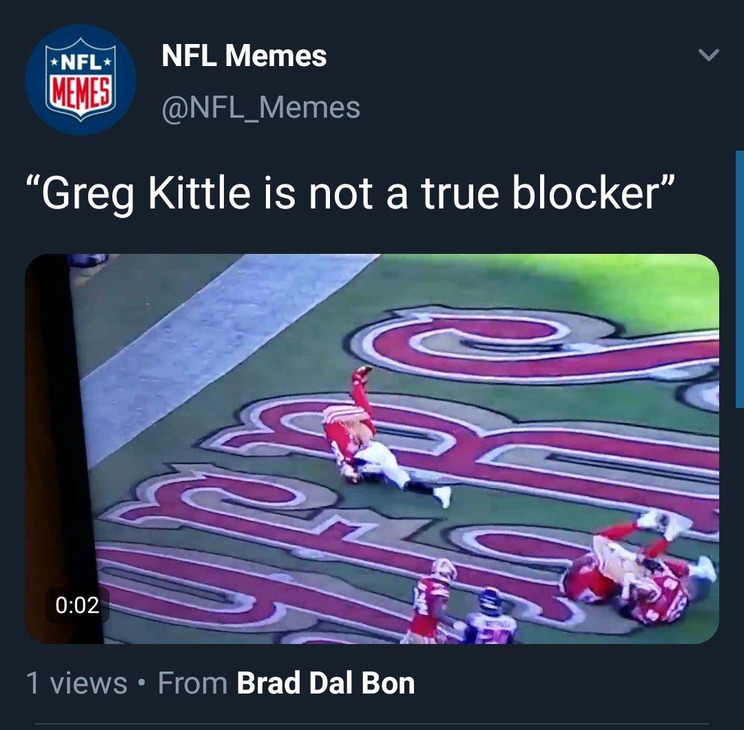 @NFL_Memes calling him Greg Kittle because I cancelled George Kittle. #Hero #NobelPrizepic.twitter.com/d1IHFaYmZN