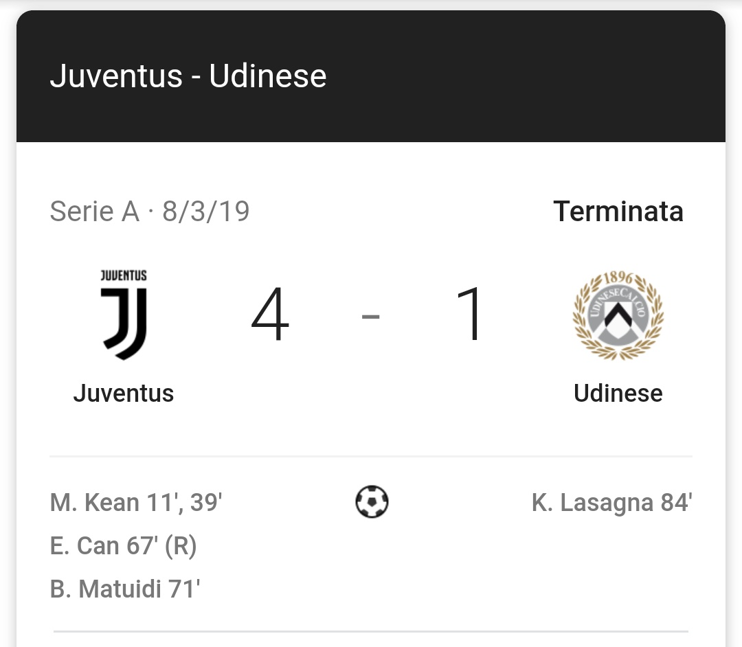 #JuveUdinese