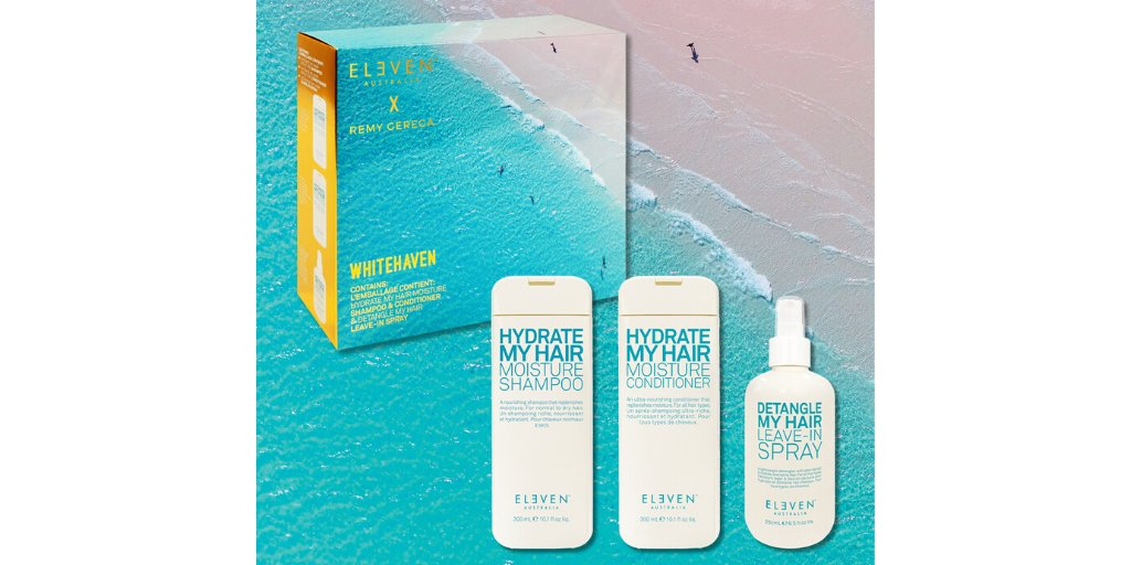 """""""Looking for gift ideas? Take a look at the Eleven Australia Whitehaven Trio, available at all Heading Out salons #ELEVENAustralia #ELEVENXRemy #headingout #melbournehairdresser #hair #haircut #hairstyle #hairdresser #hairstylist #hairinspiration #hairinspo #hairgoalspic.twitter.com/bYDvIk3pzY"""