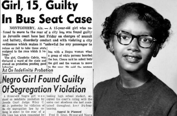 Nine months before Rosa Parks refused to give up her seat on a segregated bus, Claudette Colvin (b.1939) was arrested at the age of 15 in Montgomery, Alabama, for refusing to give up her seat to a white woman on a crowded, segregated bus. #thread