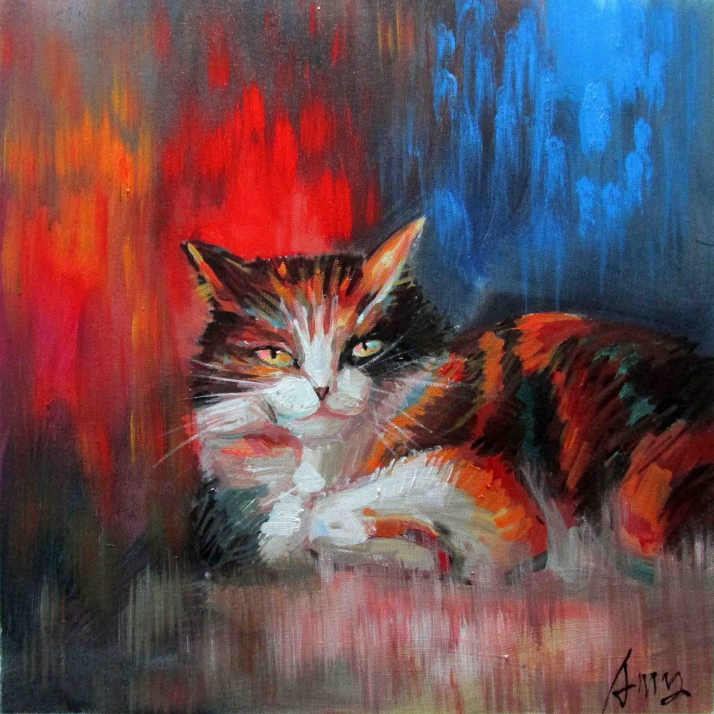 100% Hand Painted Animal Art Oil Painting Abstract Cat Canvas Painting for Room Decoration High Quality No Framed https://my-artwork.com/product/100-hand-painted-animal-art-oil-painting-abstract-cat-canvas-painting-for-room-decoration-high-quality-no-framed/…pic.twitter.com/7SK4f8nu18