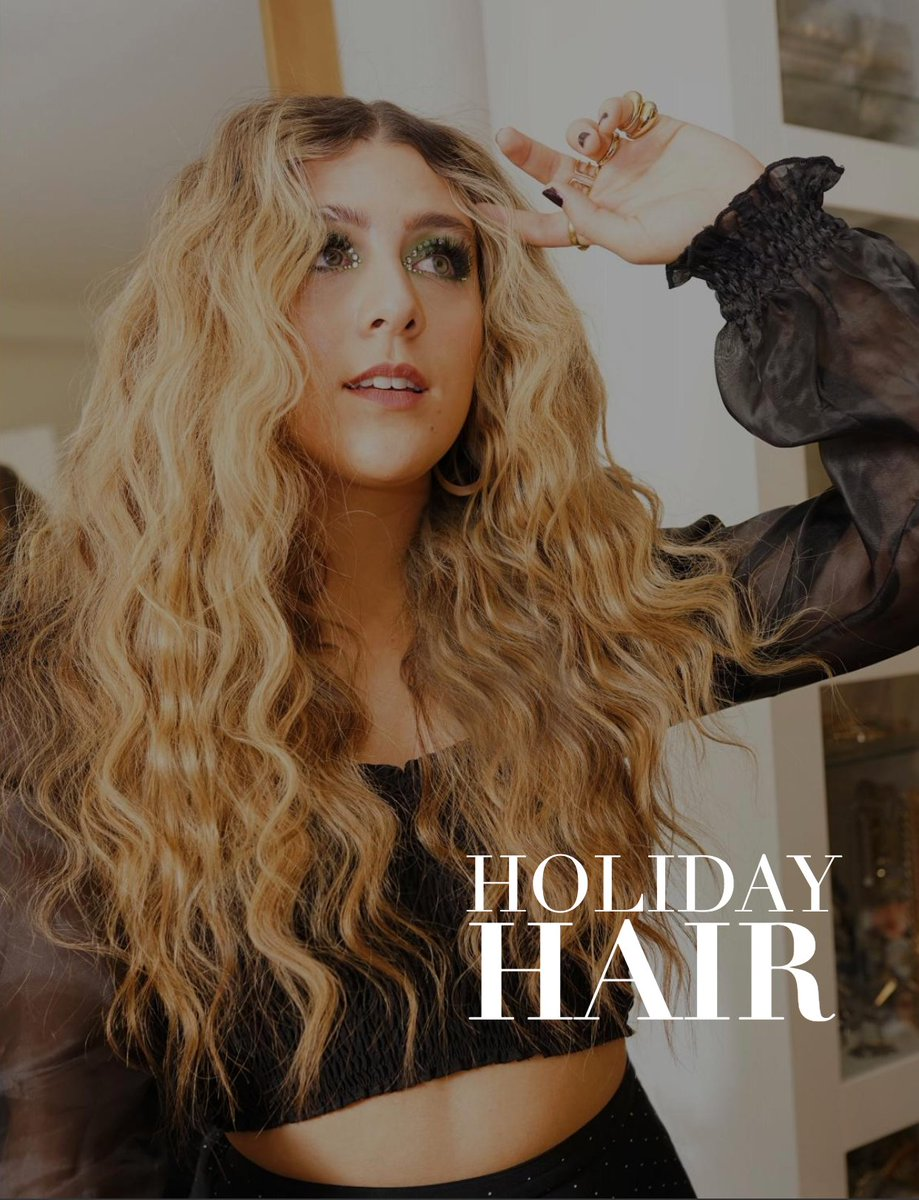 See our Holiday Hair section in the Holiday Edit. My team and I showed you all of our holiday hair inspo and we hope you love the glitz and glam just like we do! You can find the Holiday Hair on page 90: http://bit.ly/2OuNRDT pic.twitter.com/MS3foxILdz