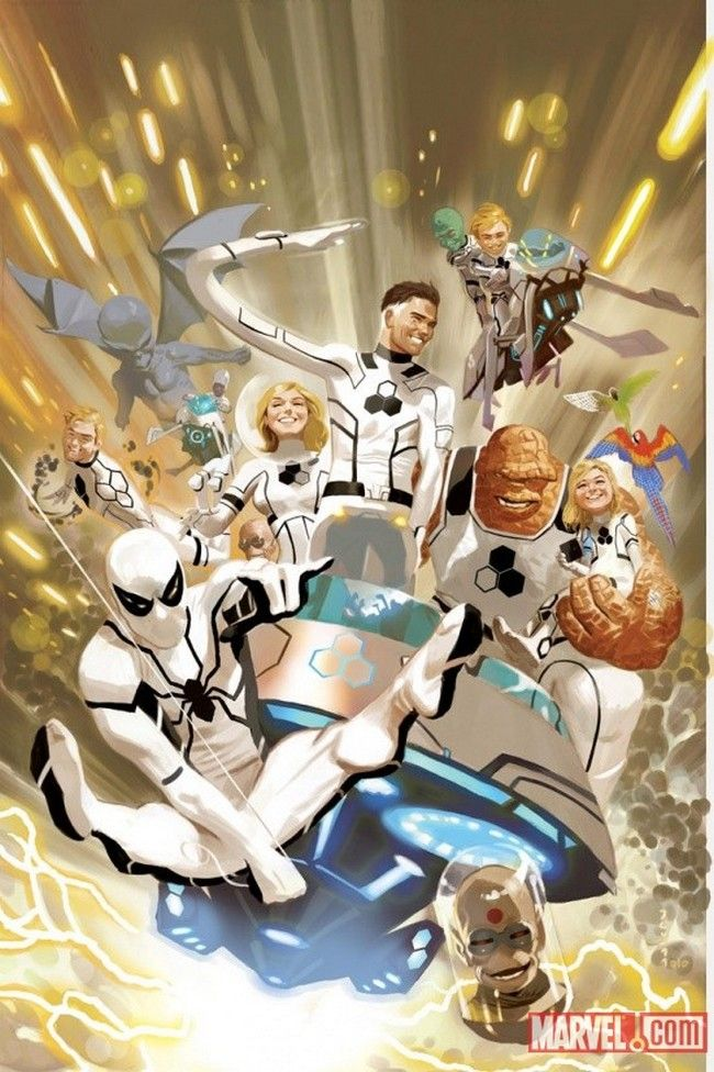 With the disappointment of humanity's perspective on science as a catalyst, Mister Fantastic created the Future Foundation in order to use science to help humanity. The Future Foundation has both a combat and science team and has a rotating roster of heroes pic.twitter.com/Vdf7FI8l8B