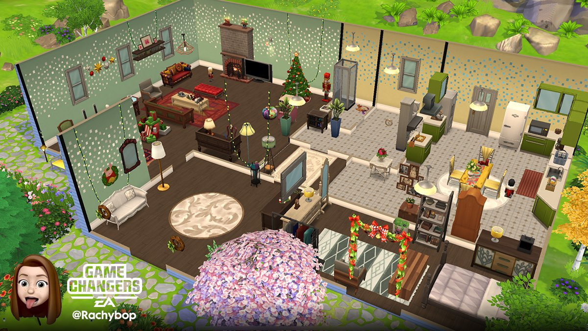 Uživatel The Sims Mobile Na Twitteru Up Next For Our Neighborhood Contest Is Game Changer Rachybop Showcasing Her Christmas Inspired Build On 417 Emerald Drive That Was Inspired By The Gilmore Girls Stars