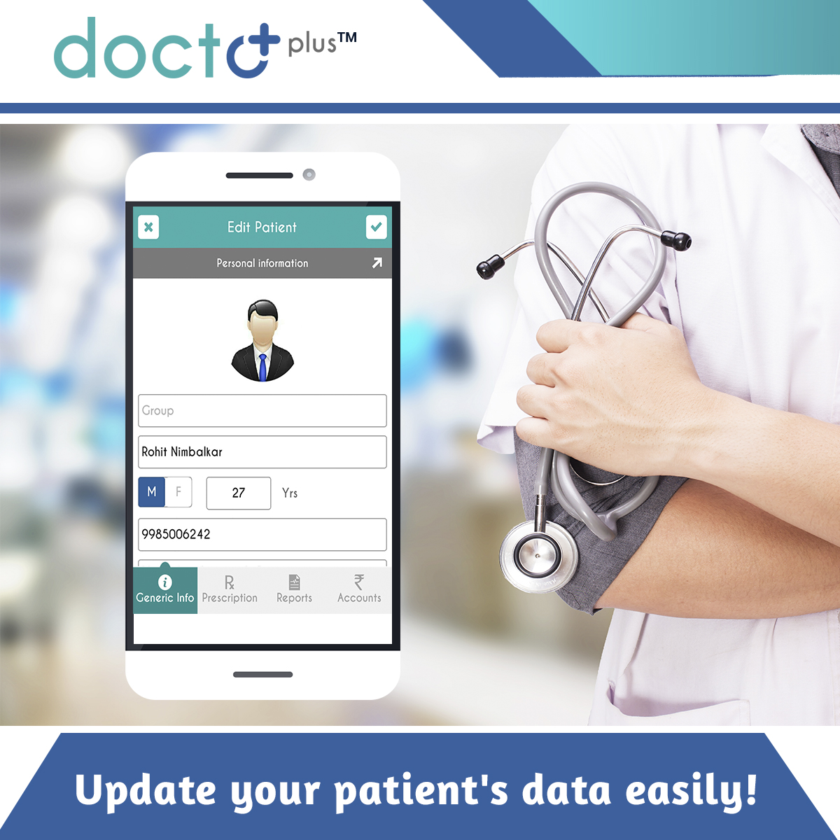 Download DoctoPlus™ for smoother OPD management! Download the App: https://goo.gl/YWr3WK Reach Us @ https://doctoplus.in/ #HealthyLiving #Clinics #Hospitals #playstore #EasyToUse #health #wellness #Life #healthylife #Doctor #management #OPDmanagement #healthcare #OPDpic.twitter.com/A8IBTzftib